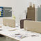desk mounted office divider / fabric