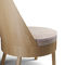 contemporary chaise longue / fabric / leather / molded plywood