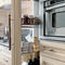 traditional kitchen / walnut / granite / U-shaped