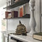 traditional living room wall unit / lacquered wood