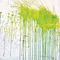 contemporary wallpaper / patterned / green / printed
