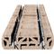 structural floor with girder-slabs / prefab / hollow / concrete