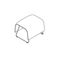 contemporary stool / fabric / commercial