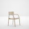 contemporary chair / with armrests / stackable / solid wood
