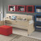 wall bed / single / contemporary / wooden