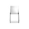 contemporary restaurant chair / stackable / recyclable / polycarbonate