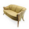 classic sofa / fabric / leather / wooden