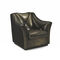 traditional armchair / fabric / leather / green