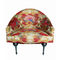 classic armchair / fabric / leather / multi-color