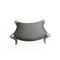 classic stool / wooden / leather / fabric
