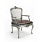 classic chair / with armrests / with removable cushion / wood