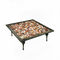classic coffee table / glass / bronze / square
