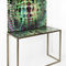 contemporary sideboard table / glass / metal / rectangular