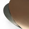 contemporary coffee table / metal / oval / swivel