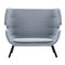 compact sofa / contemporary / fabric / ash