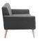compact sofa / Scandinavian design / fabric / ash