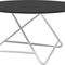 contemporary coffee table / lacquered MDF / steel / round