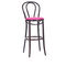 traditional bar chair / upholstered / fabric / beech