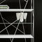 contemporary shelf / wooden / metal / tempered glass facing