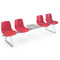 powder-coated steel beam chair / technopolymer / multiplace / indoor