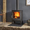 wood heating stove / multi-fuel / contemporary / cast iron