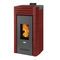 pellet boiler stove / contemporary / steel / ventilated