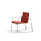 contemporary fireside chair / metal / plastic / sled base