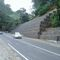 stone retaining wall / on reinforced soil / road