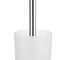 chrome-plated brass toilet brush holder / glass / wall-mounted / for hotels