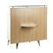 laminate reception desk / glass / aluminum / for hairdressers