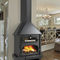 wood-burning fireplace / traditional / closed hearth / wall-mounted