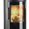 wood heating stove / metal / soapstone / sandstone