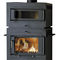 wood heating stove / metal / traditional / with oven
