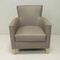contemporary armchair / fabric / beech / with armrests