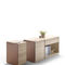 wooden office unit