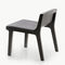 contemporary fireside chair / fabric / leather / oak