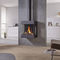 gas heating stove / contemporary / metal / wall-mounted