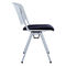 contemporary visitor chair / upholstered / stackable / molded plywood