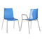 contemporary visitor chair / stackable / with armrests / plastic