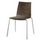 contemporary visitor chair / upholstered / with armrests / stackable