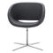 contemporary visitor armchair / fabric / metal / swivel