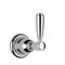 double-handle washbasin mixer tap / wall-mounted / chromed metal / bathroom