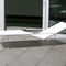 contemporary sun lounger / Batyline® / stainless steel / garden