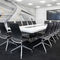 contemporary conference table / wooden / metal / rectangular