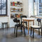 contemporary restaurant chair / upholstered / fabric / molded plywood