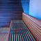 Finnish sauna / commercial / wooden / tempered glass