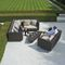 contemporary sofa / garden / patio / synthetic fiber