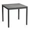 contemporary dining table / stone / lacquered aluminum base / square