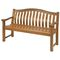 garden bench / traditional / hardwood / with backrest
