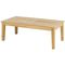 contemporary coffee table / oak / oak base / rectangular